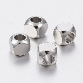 Stainless steel 304 insert, 5x5x5 mm., 4 units. 1 bag