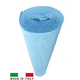 Italian crepe paper, blue, 2.50 x 0.50 m.