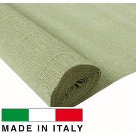 Italian crepe paper, light green, 2.50 x 0.50 m.