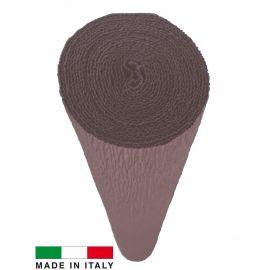Качественная итальянская бумага, коричневая 614, 2,50 х 0,50 м.