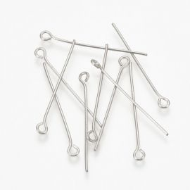 Stainless steel 304 pins, 40x0.7 mm., ~100 pcs. 1 bag