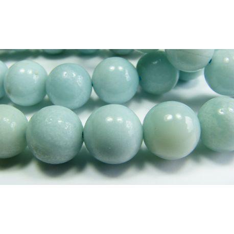 Amazonian stone bead thread azure-shaped 10 mm