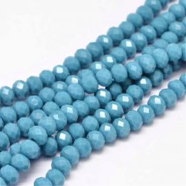 Glass beads, 6x4 mm., 1 strand
