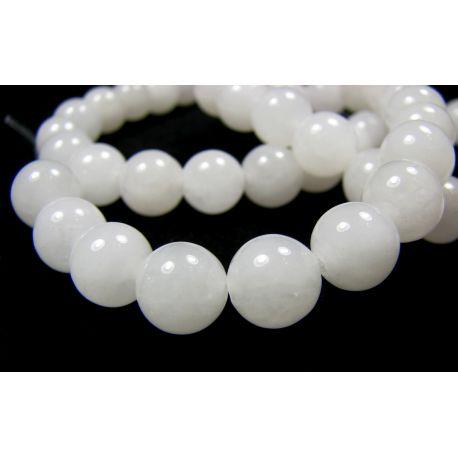 Jade beads white round shape 8mm