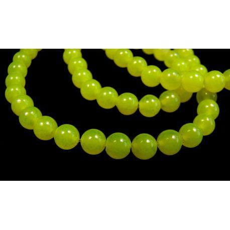 Akmeniniai karoliukai ryškios geltonos spalvos 4 mm