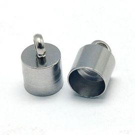 Nerūdijančio plieno 304 užbaigimo detalė, 10x6,5 mm., 4 vnt. 1 maišelis
