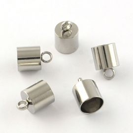 Stainless steel 304 completion part, 12x8 mm., 4 units. 1 bag