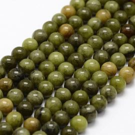 Natural Jade beads, 6-7 mm., 1 strand