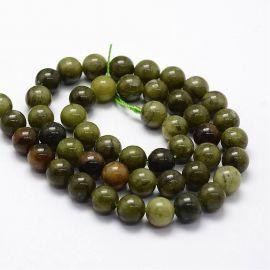 Natural nephritis beads, 8 mm., 1 strand