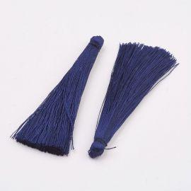 Polyester tassel. Dark blue, length 65 mm