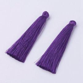 Polyester tassel. Dark purple, length 65 mm