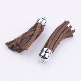 Elementas naudojamas dekoruoti, gaminiti papuošlus, randarbius, elementus aksesuarams, 12 mm ilgis 55-65 mm, 1 vnt. Kaina 0,8 Eu