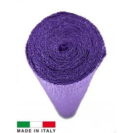 Italian crepe paper, purple, 2.50 x 0.50 m.