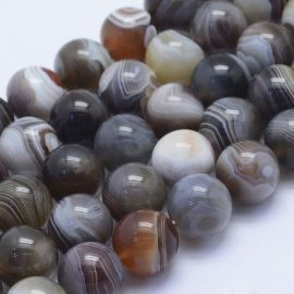 Natural beads of the Botswana agate, 14 mm., 4 units. 1 bag