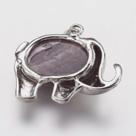 Natural amethist pendant