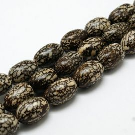 Natural Bodhi beads, 13x11 mm., 4 pcs. 1 bag