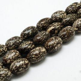 Natūralūs Bodhi karoliukai, 13x11 mm., 4 vnt. 1 maišelis
