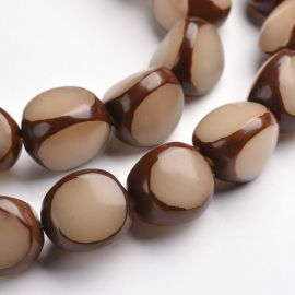 Natural Bodhi beads, 15x13 mm., 4 pcs. 1 bag
