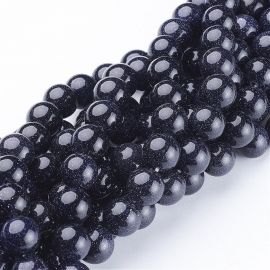 Synthetic Cairo night beads, 10 mm., 1 strand
