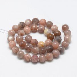 Natural Solar Stone Beads, 10 mm., 1 strand