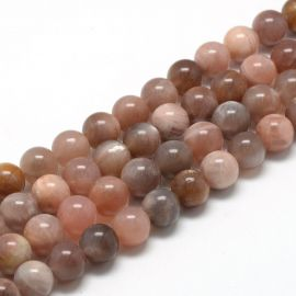Natural lunar stone beads. Brownish-gray-white size 8 mm