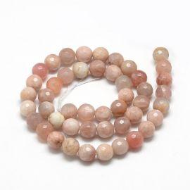 Natural Solar Stone Beads, 8 mm., 1 strand