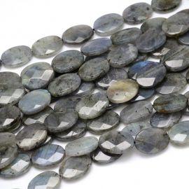 Dabiskas labradoritoīta pērles, 18x13x5 mm., 1 gab.