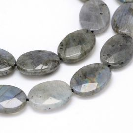 Natural Labradoritoite beads, 18x13x5 mm., 1 pcs.