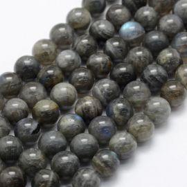 Бусины из натурального лабрадорита. Серый с голубоватым отливом размер 10 мм