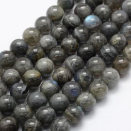 Natural Labradorite beads. Grey with bluish sheen size 10 mm