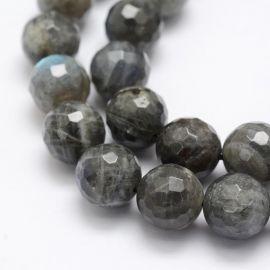 Natural Labradoritoite beads, 12 mm., 1 strand