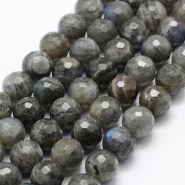 Natural Labradorite beads. Grey with bluish sheen size 12 mm