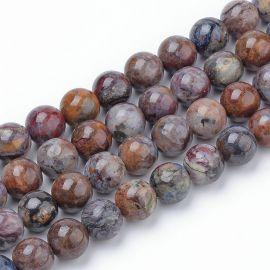 Бусины из натурального петерсита, 12 мм., 1 нитка