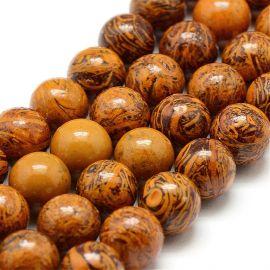 Natural Jaspio beadsmargi. Brown size 10 mm