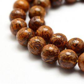 Natural Jaspio beads, 10 mm., 1 strand