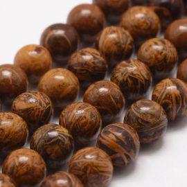 Натуральный бисер Jaspio margi. Размер коричневый 10 мм