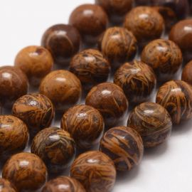 Natural Jaspio beads, 10 mm., 1 strand
