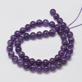 Natural Amethist beads, 8 mm., 1 strand