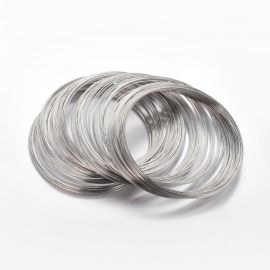 Wire with memory for necklace, 1.00 mm., ~10 rings 1 bag