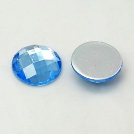 Acrylic cabochon. Blue size 25x6 mm