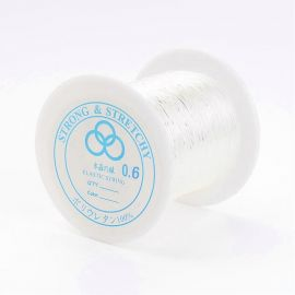Sturdy elastic rubber, 0.60 mm., coil ~100 meters 1 coil