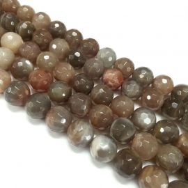 Natural beads of moonstone. Gray-beige-white size 8 mm
