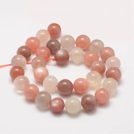 Natural Lunar Stone Beads, 12 mm., 1 strand