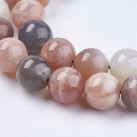Natural moon stone beads, 10 mm., 1 strand