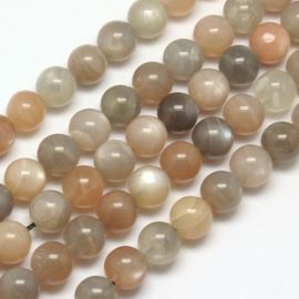 Natural lunar stone beadsmargi. Gray-beige-white size 8 mm