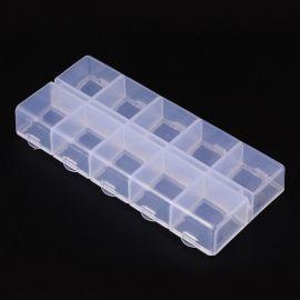 Plastic box. Transparent size 130x60x5 mm
