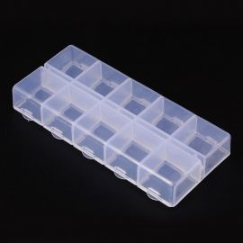 Plastic box, 130x60x5 mm., 1 pcs.