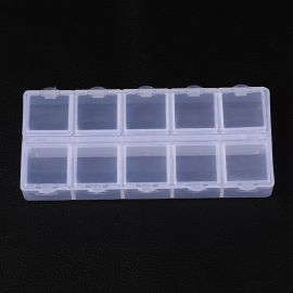 Plastic box, 130x60x20 mm., 1 pcs.