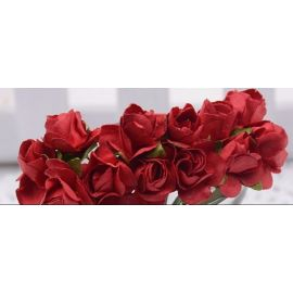 Paper decorative roses, red 10 mm