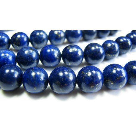 Lapis Lazuli beads dark blue, Class A round shape 10mm